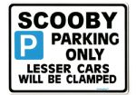 SCOOBY Large Metal Sign for Subaru Impreza WRX  sti